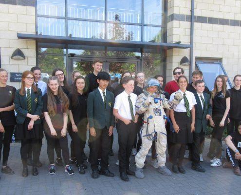 Spacesuit at Valley Park & Invicta Schools